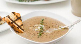 Сливочный суп из каштанов