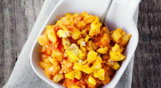 Соте из овощей и трески