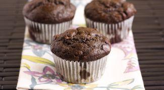 Chocolate banana muffins
