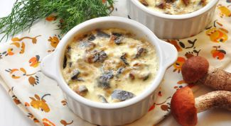 French julienne with mushrooms