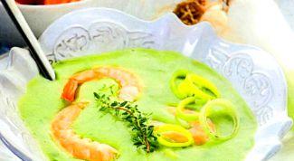 Суп вишисуаз с креветками