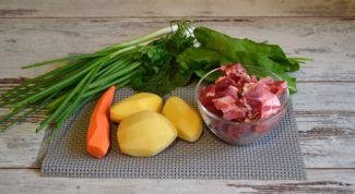Зеленый борщ по семейному рецепту