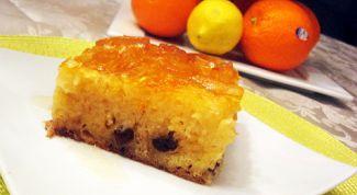 Апельсиновый кекс по-гречески