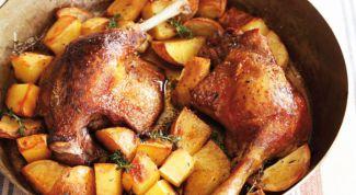 Как приготовить утку с картофелем в духовом шкафу