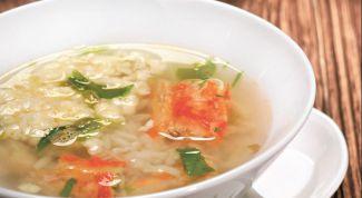 Как приготовить суп с мясом краба