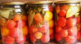 Как приготовить вкусные консервированные помидоры черри на зиму