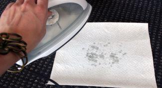 Как убрать пятно от продуктов питания с вискозы
