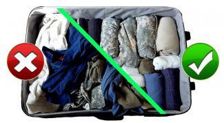 Как собрать чемодан в поездку, чтобы все поместилось