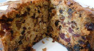Как сделать кекс с орехами и сухофруктами