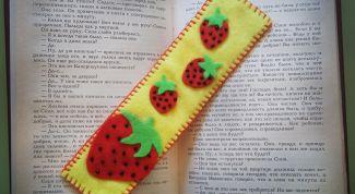 Как сделать закладку для книги из фетра