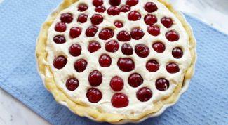 Как приготовить творожный пирог с черешней