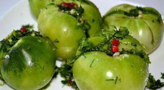 Быстрые зеленые помидоры по-грузински