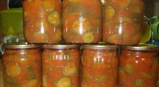 Заготовки на зиму - огурцы в томатной пасте