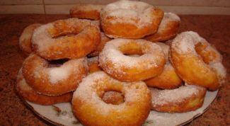 Пончики с творожным кремом
