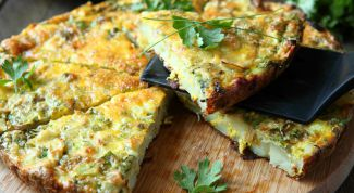 Испанская тортилья с картофелем и овощами