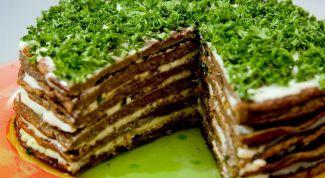 Торт из печеночных блинчиков