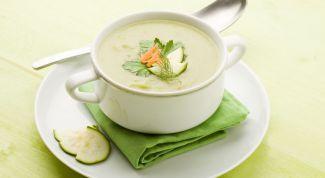 Суп-пюре из кабачков и грибов