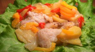 Пангасиус с картофелем в мультиварке