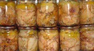 Тушенка из курицы на зиму в духовке