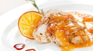 Цыпленок под сладким соусом