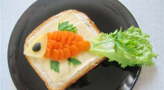 """Забавный бутерброд """"Золотая рыбка"""""""