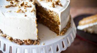Как приготовить морковный торт со сливочным кремом