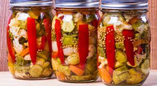 Простое ассорти из овощей на зиму