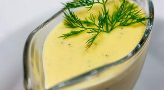 Сырный соус с зеленью