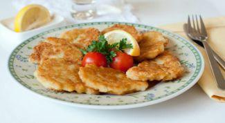 Рыбные оладьи с рисом и сыром