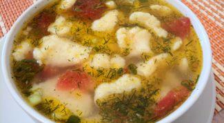 Говяжий суп с клецками