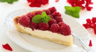 Как сделать сметанный тарт с малиной