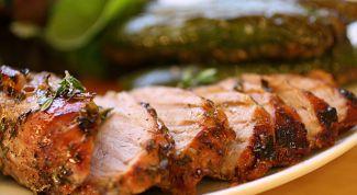 Жареная свинина с розмарином