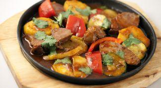 Жаркое из баранины с овощами