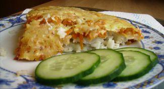 Рыбная запеканка с рисом и овощами