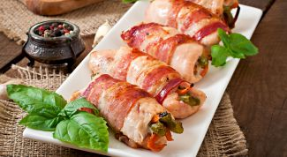 Мясные круассаны с овощной начинкой