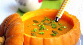 Как приготовить суп-пюре из тыквы с курицей