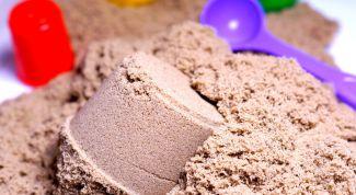 Как приготовить кинетический песок в домашних условиях