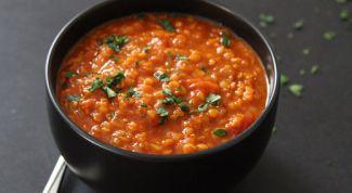 Как приготовить суп с чечевицей и томатами