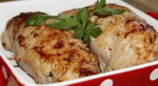 Как приготовить рулетики из куриного филе