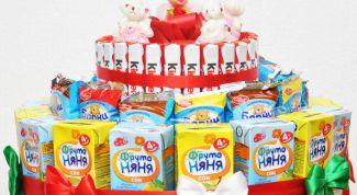 Торт из конфет и сока для детского дня рождения