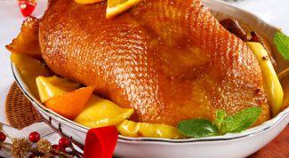 Как запечь утку с апельсинами в духовке