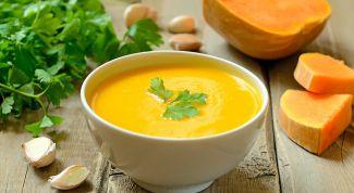 Как приготовить суп-пюре из тыквы со сливками