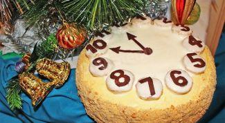"""Как приготовить торт """"Новогодние часы"""""""