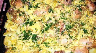 Как приготовить слоеную картошку с курицей в духовке