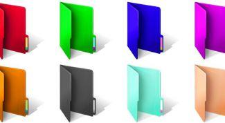 Как в Windows изменить цвета папок