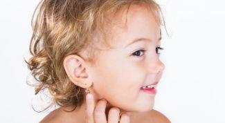 Как проколоть уши ребенку