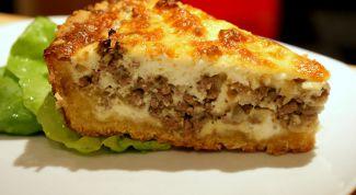 Как приготовить быстрый пирог с мясом на кефире