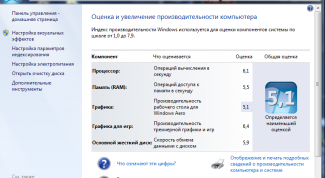 Как узнать индекс производительности Windows 10
