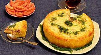Как приготовить картофельный пирог с сельдью