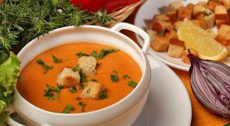 Как приготовить суп-пюре из чечевицы